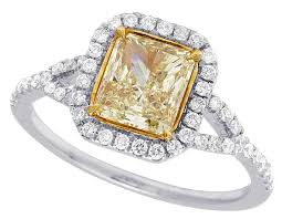 canary engagement rings 14k white gold genuine canary cushion cut solitaire ring 1