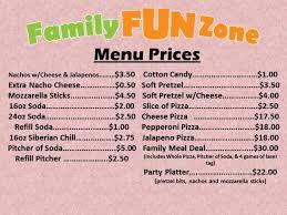 family zone menu