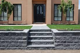 retaining wall construction garden and sleeper retaining wall
