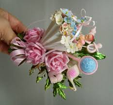 how to make a baby shower corsage let s party vintagecorsage by meaicp
