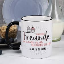 hochzeitsgeschenk f r freunde tasse für beste freunde mit wunschtext verrückte freunde sind