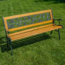 New Outdoor Furniture by Patio Garden Park Bench Backyard Outdoor Furniture Chair Cast Iron