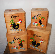 wooden kitchen canister sets 1950s kitchen wooden canister set rooster 1950s kitchen