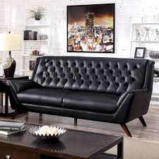 leather sofa furniture of america valentino mid century modern bonded leather