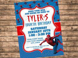 spiderman birthday party invitations gallery invitation design ideas