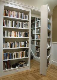 Book Cabinet With Doors by Secret Bookcase With Light Gray Hidden Shelves For Cool Book
