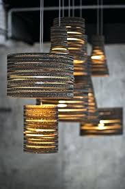 Cardboard Pendant Light Mini Drum Lamp Shades For Chandeliers Drum Lamp Shades For Floor