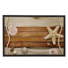 paillasson cuisine coquillages starfish bois sur la plage salon paillasson cuisine