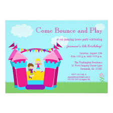 personalized bounce house birthday invitations