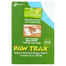No Trax Wipe Your Paws Richell Paw Trax Training Pads 50 Count Walmart Com