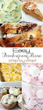 easy thanksgiving dinner menu mostly