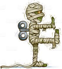 wind up mummy stock vector art 97785903 istock