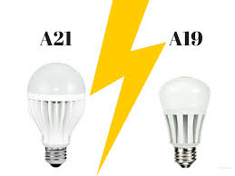 Who Invented The Led Light Bulb by A21 Vs A19 Led Light Bulbs Many Household Led Light Bulbs Are