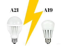 Led Light Bulb Vs Incandescent by A21 Vs A19 Led Light Bulbs Many Household Led Light Bulbs Are