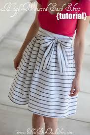 high waisted skirts this big oak tree high waisted sash skirt tutorial