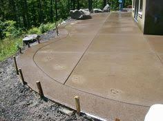 Concrete Backyard Patio by Stamped Concrete Patio Cost Http Www Rhodihawk Com Stamped