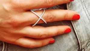diamond x ring pave x rings pave cross rings diamond x rings