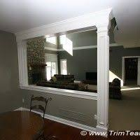 Room Divider Walls by Half Wall Room Divider Something Like This Between Family Room