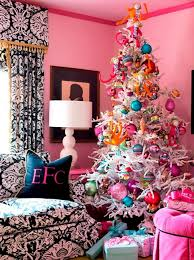 christmas decoration and design for joyful living room with white