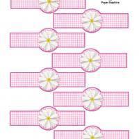 printable napkin rings pink gingham paper napkin ring