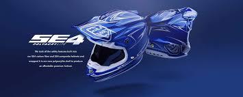 troy lee designs se4 polyacrylite off road racing motorcycle mx