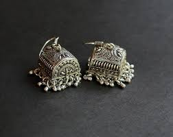 jhumka earrings jhumka box earrings indian ethnic jhumka earrings indianroute on