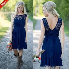 cheap bridesmaid dresses 2017 navy blue country style bridesmaid dresses sheer a line