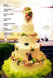 wedding cake harga wedding cake 5 tiers by pelangi cake bridestory