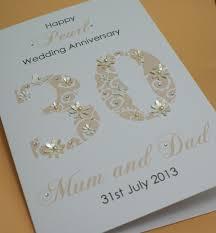 large handmade personalised 30th pearl wedding anniversary card ebay