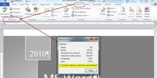 Count Words In A Text Document How To Calculate The Total Word Count In A Word 2010 Document