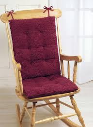 Rocking Chair With Cushions Faux Sheepskin Rocker Cushion Set Carolwrightgifts Com