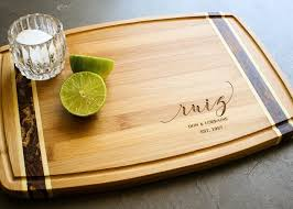 personalized cheese platter personalized bamboo inlay cutting board by engravemethis