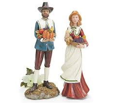 new pilgrim figurine statue thanksgiving decor gift burton