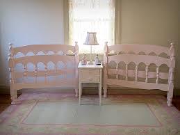 Vintage Bed Frames Adorable Pink Vintage Spindle Matching Twin Beds Forever Pink