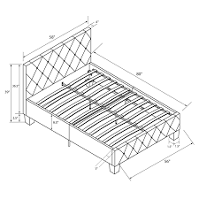 Amazon Fabric Bed Frames Amazon Com Dhp Platform Bed Dakota Faux Leather Tufted