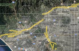 California Fault Map Earthquake Fault Runs Through Rodeo Drive And Beverly Hills