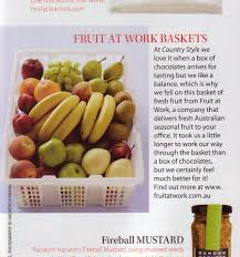 press mentions and news for fruit at work