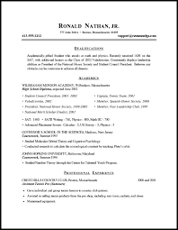 resume outline exles outline for a resume outlines sle templates best exles 10