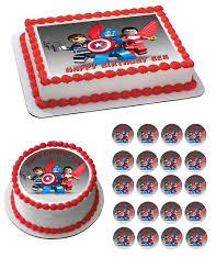 captain america cake topper captain america lego edible cake and cupcake topper edible