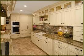White Cabinets Granite Countertops Kitchen White Kitchen Cabinets Backsplash Glass Mosaic Kitchen