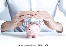 his and piggy bank closeup image new car piggy bank stock photo 231526426