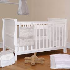 Sleigh Cot Bed 4baby 3 In 1 Sleigh Cot Bed White Buy At Online4baby