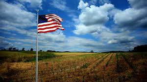 Hd American Flag Beautiful American Flag Waving In Time Lapse Of Rural Country