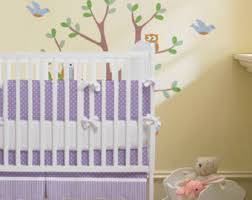 Purple Nursery Bedding Sets Purple Crib Bedding Etsy