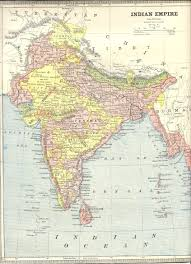 Map Of Indian States by India1885
