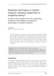 projective techniques in market research valueless subjectivity