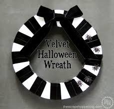 black u0026 white halloween wreath the scrap shoppe