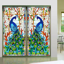 glass design new design europen style peacock glass window home decorative