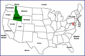 map us idaho idaho maps series view of idaho in united states the idgenweb
