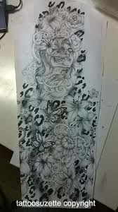 Leopard Print Flower Tattoos - hamlet with skull print tattoo ideas pinterest